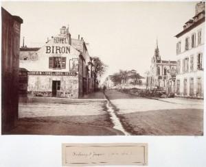 Rue du Faubourg Saint-Jacques du carrefour de la rue Leclerc
