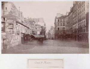 Carré Saint-Martin de la rue Saint-Martin, vers la future rue de Turbigo