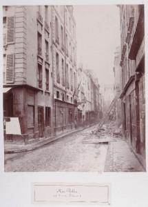 Rue Volta de la rue des Fontaines, avec les Madelonnettes en démolition
