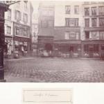 Carrefour Saint-Opportune, vue prise de la rue des Fourreurs vers les rues Courtalon et Saint-Denis