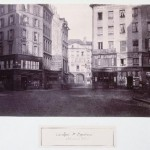 Carrefour Saint-Opportune, vue prise de la rue des Halles vers la rue de la Ferronnerie