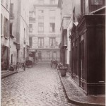 Charles Marville (1860s) - Rue des Pèlerins-Saint-Jacques viewed from the Rue du Four, with the Rue Mondétour in the background