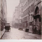 Charles Marville (1860s) - Rue du Cygne viewed from the Rue Mondétour