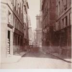 Rue Oblin, vue prise de la Halle au Blé