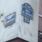 Intersection of the rue Saint-Denis and the rue Rambuteau.