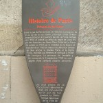 Historical plaque for a fragment of the wall of La Force