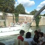 A boat called Gavroche on the Seine