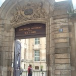 City of Paris Historical Library in the rue Pavée, next to a fragment of the wall of La Force