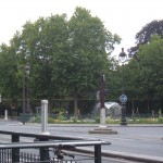 View of the Jardin du Luxembourg from the site of the Musain