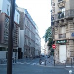 View back down the Rue Oudinot from the cul-de-sac at the end
